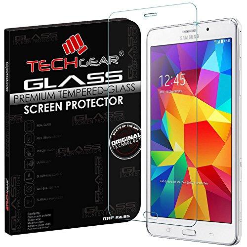 TECHGEAR Panzerglas für Galaxy Tab 4 7,0 Zoll mit 3G SM-T231 & LTE SM-T235 - Panzerglasfolie Anti-Kratzer Schutzabdeckung kompatibel mit Samsung Galaxy Tab 4 7,0