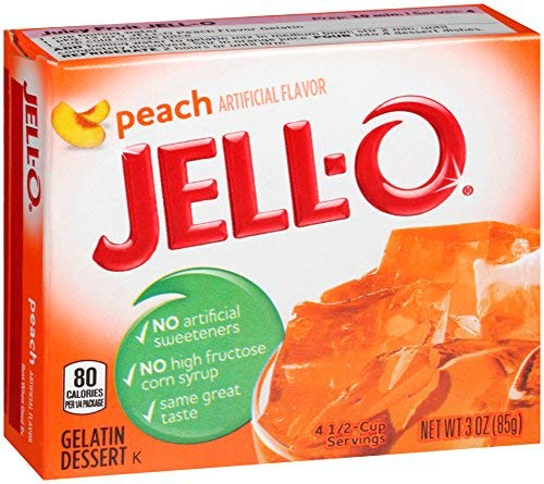 Jell-o Gelatin Dessert low-pricing Peach 3-ounce Pack of 4 Max 75% OFF Boxes
