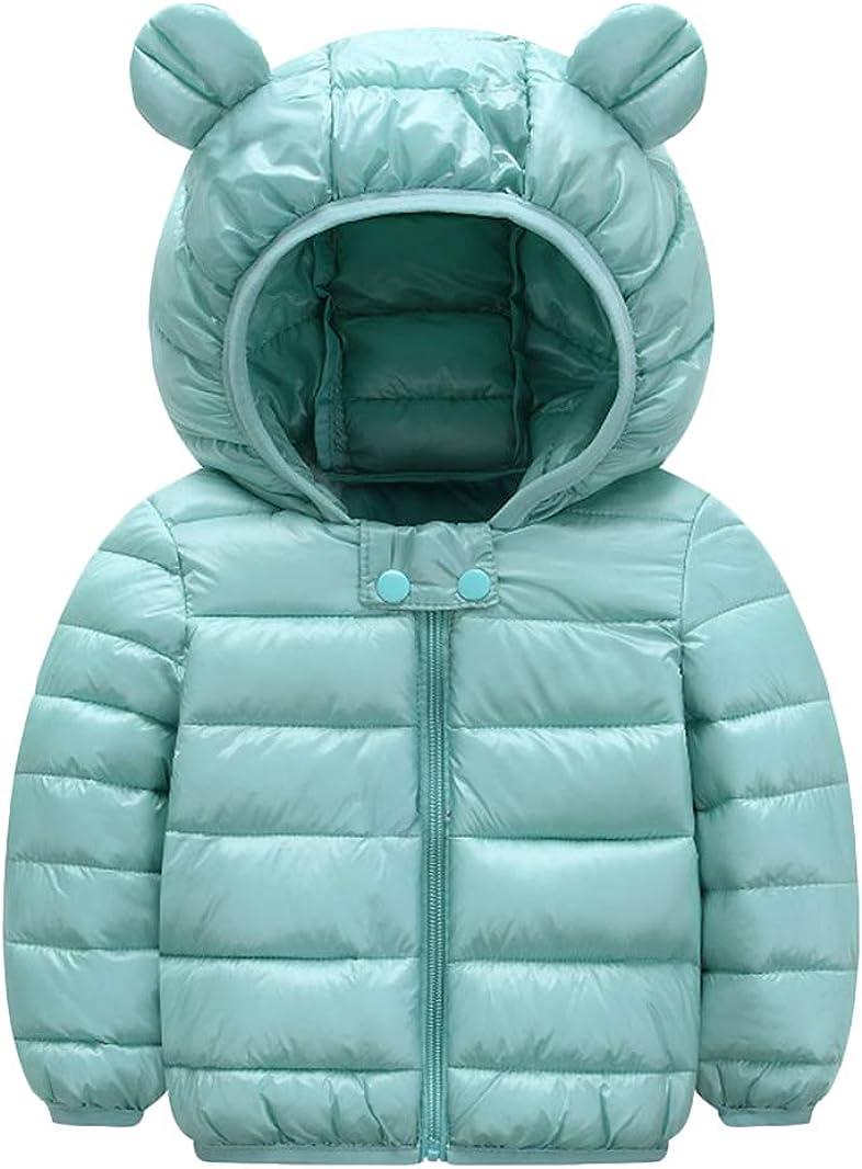 BOFETA Kids Winter Hooded Lightweight Puffer Jackets Outwear Warm Cartoon Jackets