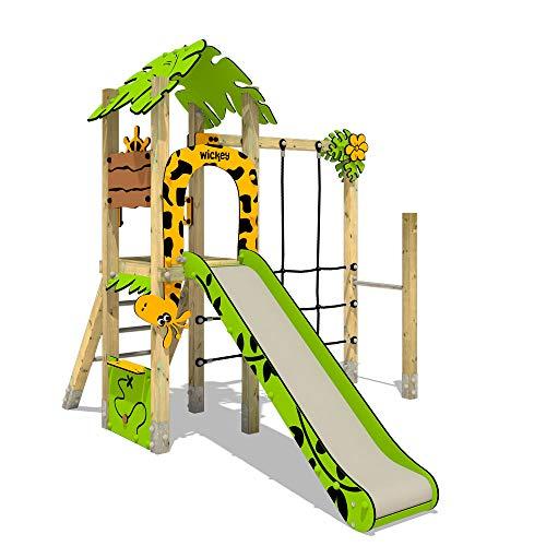 Kletterturm mit Rutsche WICKEY PRO MAGIC Zulu+ für den öffentlichen Bereich - Entwickelt nach DIN EN 1176 - Ideal für Kindergarten, Schwimmbad, Schule, Hotel, Restaurant, Ferienpark & Campingplatz