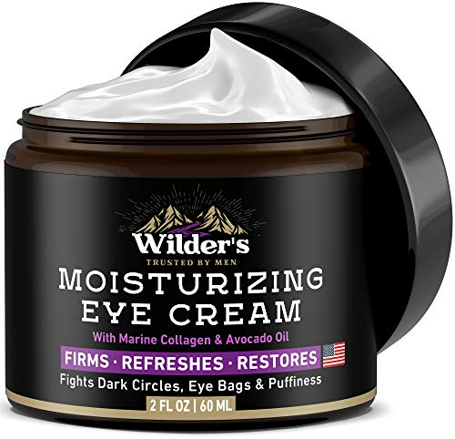 Moisturizing Men's Eye Cream - Eye Firming & Refreshing Men's Wrinkle Cream - Made in USA - Men's Anti-Aging Cream for Dark Under-Eye Circles, Eye Bags & Puffiness - Under Eye Cream for Men 2 fl oz