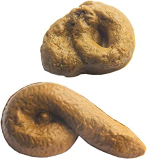 HOHAJIU Fake Poop Novelty Mischief Toys Realistic Prank Poop Toys for Joke Trick April Fools' Day Party, Pack of 2