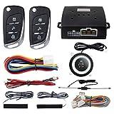 EASYGUARD PKE パッシブキーレスエントリー自動車警報システムボタンを押すとスタートリモートスタートDC12V EC003N-V-1