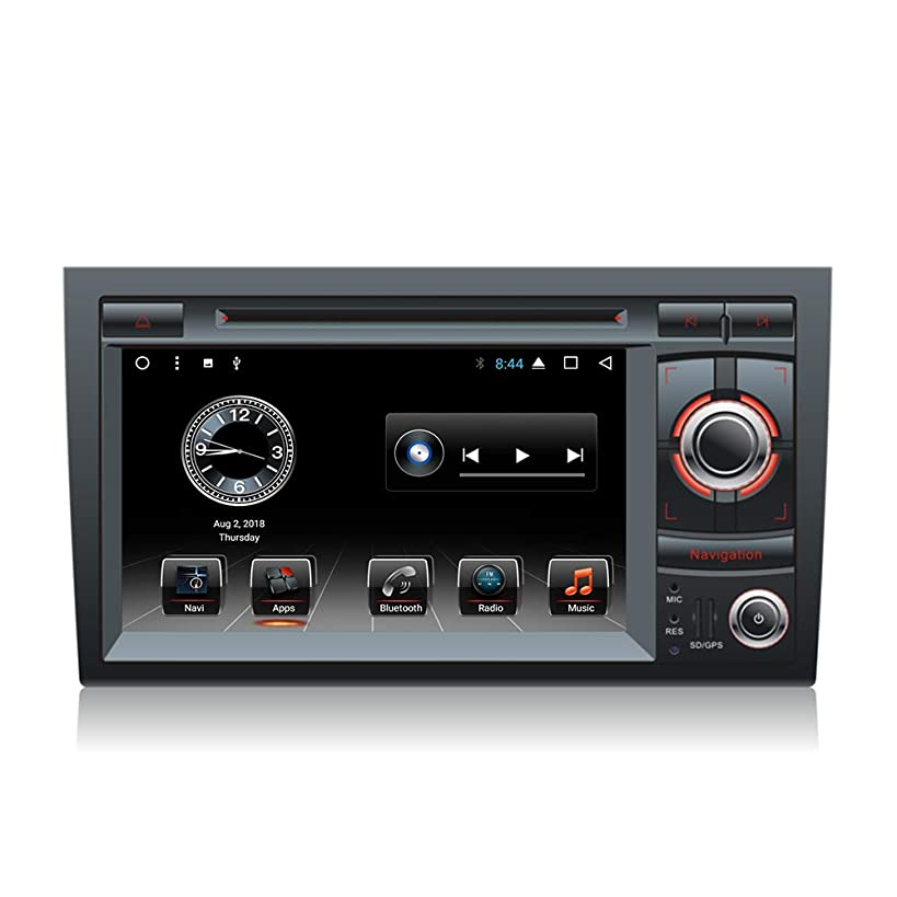 Car DVD Multimedia Player GPS Android 8.1 Octa Core Navigation for Audi A4 S4 RS4 8E 8F B9 B7 2002-2008 Stereo BT 4G WiFi Canbus Head Unit (Android8.1 4+64G Audi A4 DVD)