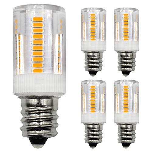 E14 LED Glühbirne 2,5W Halogenlampe Entspricht 20W 28W 30W Kleine Edison Schraube 230V für Salzlampe Kühlschrank Gefrierschrank Dunstabzugshaube Licht Warmweiß 3000K Nicht Dimmbar (5er Pack) [MEHRWEG]