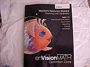 eVision Math Common Core Kindergarten Level Teacher's Resource Masters Counting and Cardinality Topics 1-6 realize Edition