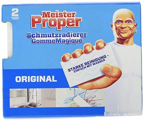 Meister Proper Schmutzradierer (2er Pack) Original, Radierschwamm für strahlende Oberflächen