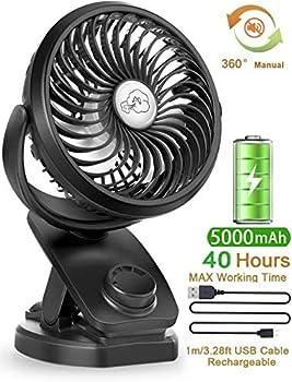 YXwin 2020 Newest Li-polymer Battery 4 Speed Quiet Table Fan