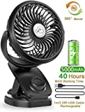 Best Travel Fans - Stroller Fans Mini USB Desk Clip Fan,YXwin 2020 Review