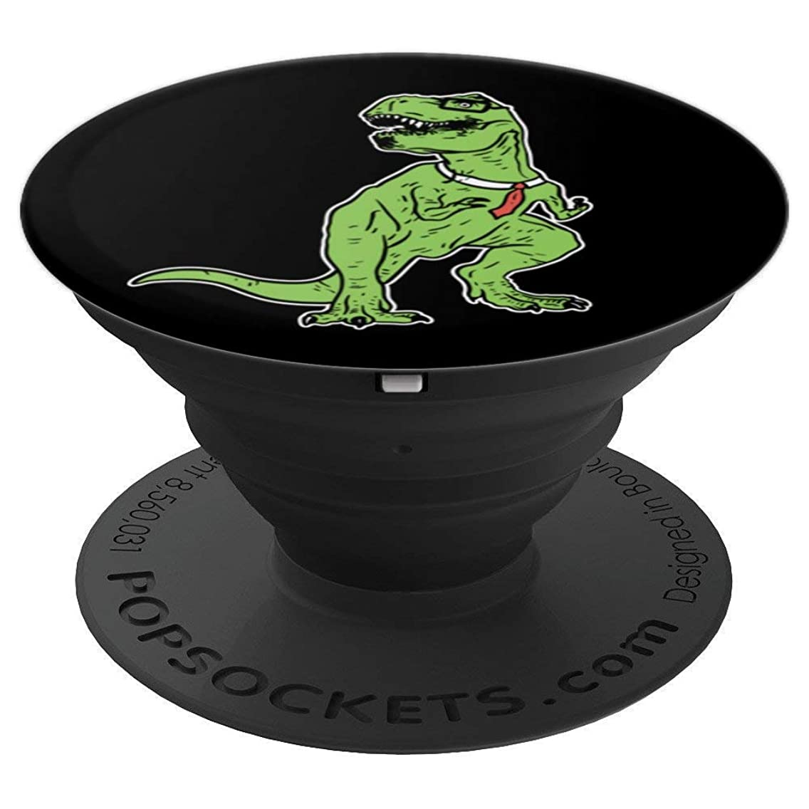 Dinosaur Grip Tyrannosaurus Nerd | Geek T-Rex Tie - PopSockets Grip and Stand for Phones and Tablets