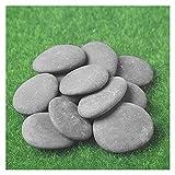 JINQIANSHANGMAO Guijarros 12pcs Rocas for Pintar 2-2.8inches Regalo for niños y Adultos Arte de Roca al Aire Libre Rocas de Pintura Suave Natural Guijarros (Size : 5-7cm(12pcs))