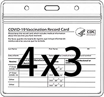 LiPing 4 x 3 Inch Clear CDC Vaccination Card Protector
