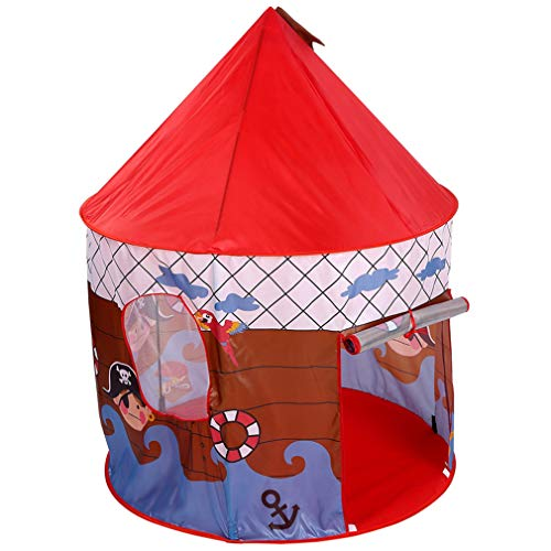 LICHUXIN Children Play Tent,Collapsible Pirate Captain Boy And Girl Play House Yurt Tent, Indoor And Outdoor Princess Bed Curtain Toy Tent, Children's