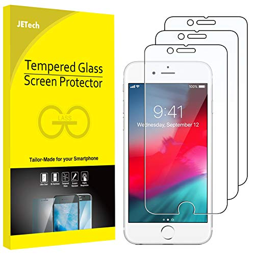 JETech Schutzfolie kompatibel mit iPhone SE 2020, iPhone 8, iPhone 7, iPhone 6s, und iPhone 6, Panzerglas Displayschutzfolie, 3 Stück