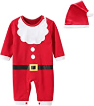 2Pcs Newborn Baby Christmas Romper Jumpsuit Set Cute Infant Toddlers Xmas Cosplay Costume Bodysuit +Hats