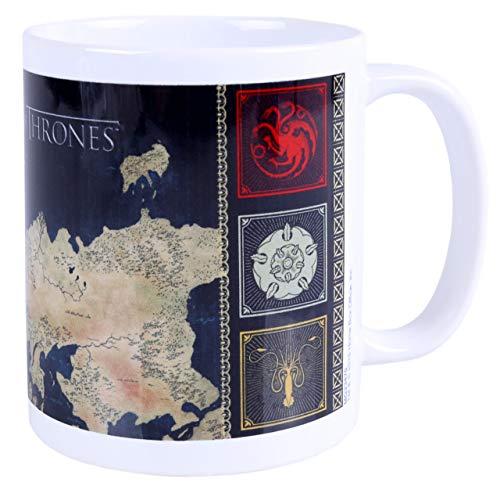 Taza blanca, mapa Juego de Tronos