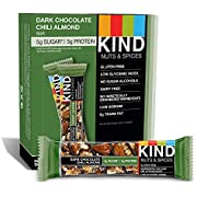 KIND Bars, Dark Chocolate Chili Almond, Gluten Free, 1.4 Ounce Bars, 12 Count
