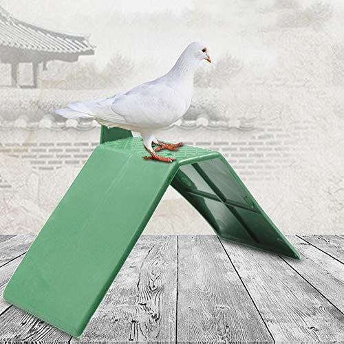 Pssopp 10 Stücke Taubensitzbrett Sitzbrett Taubenruhe Stehen Taubenruhe Rahmen Grill Kunststoff Taubenruhe Rastplatz Vogel Ständer Halter Vogel Liefert Zubehör
