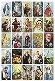 Santino Immagine con 25 soggetti assortiti in PVC - 5,5 x 8,5 cm - Italiano