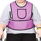 Wheelchair Seatbelt Patients Constraint Vest,Wheelchair Harness Adult Wheelchairs Seat Belt,Chair Chest Restraint Wheelchair Belts to Prevent Sliding,Wheelchair Restraints for Elderly Senior Home Care