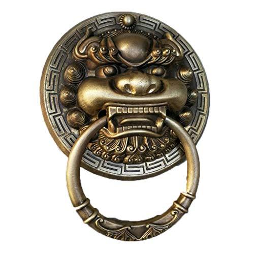 Retro Messing türklopfer,klassik Türbeschlag Hardware Löwenkopf Ring ziehen Manor Haustür Gate Hof-Trompete-Bronze