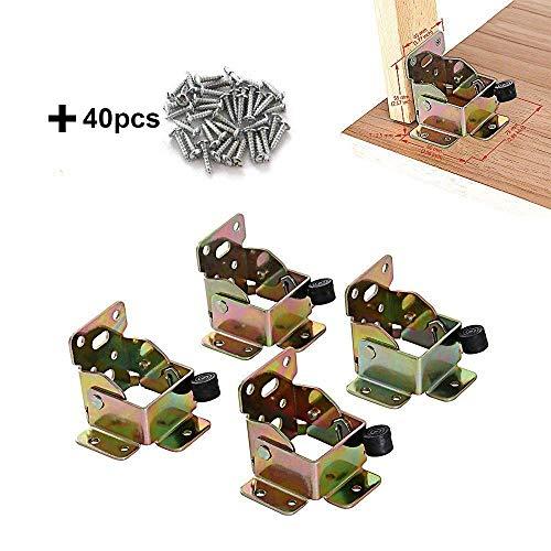 TopDirect 4PCS 75 x 60 x 55mm bisagras de hierro mesa patas...