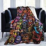 HENWS Micro Fleece Blanket Soft Cozy Throw Blanket Flannel Blankets for Couch Bed Living Room 50x40 Inch