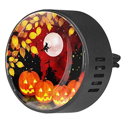 2pcs Difusor de aromaterapia Difusor de aceite esencial de coche Clip de ventilación Noche de Halloween Calabaza de arce