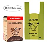 Bolsas de caca biodegradables para perro con asas de fácil cierre - 300