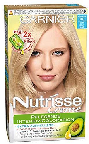 Garnier Nutrisse Creme Coloration Extra Helles Blond 101, Färbung für Haare, 6er Pack (6 x 1 Stück)