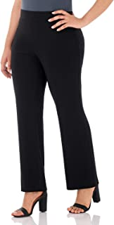 Rekucci Travel in Style - Curvy Woman Classic Straight Leg Plus Size Pant