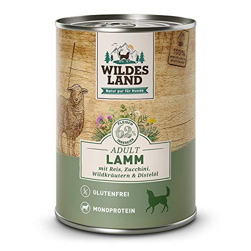 Wildes Land Hundefutter Nassfutter Lamm (12 x 400g)