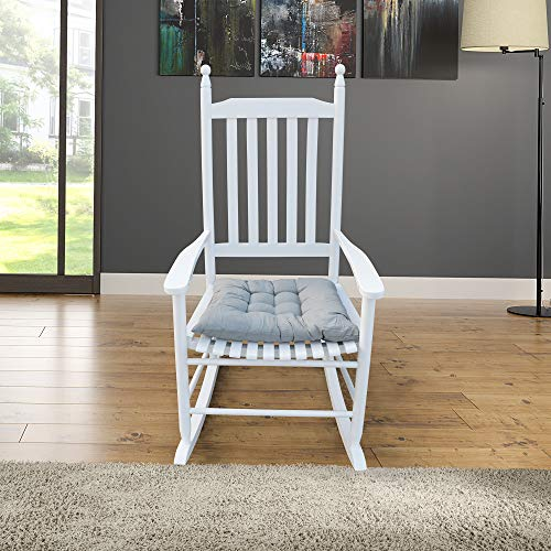 Yoglad Wooden Console Rocking Chair Rocking Chair-Easy to Assemble-Comfortable Size-Outdoor or Indoor Use (White)