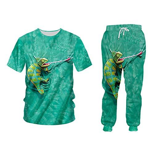 Sistema de Ropa de Moda para Hombres/Mujer Moda + Pantalones Sillas de 2 Piezas TSPA00429 XXXL
