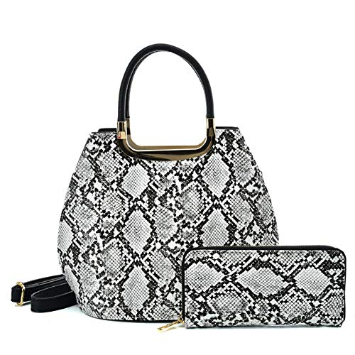 Glitzall Women's Handbag Sets Handle Tote Satchel Purse with Matching Wallet