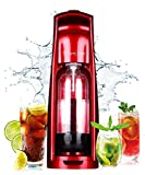 WantJoin Soda Maker for home and commercial,soda Sparkling Water Maker Starter Kit ,Patented Bubble Syringe,No gas cylinders-Noble Red (Red)