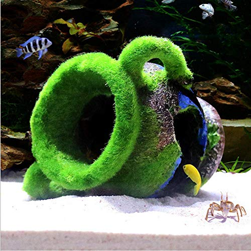 XIZHI Mini Vaso di Resina Ornamento per Acquario, Decorazione per Acquario, Acquario, Vaso Antico Cave Rettile Habitat per Pesci Gamberetti Nascondere Acquario Ornamento Pet Supplies