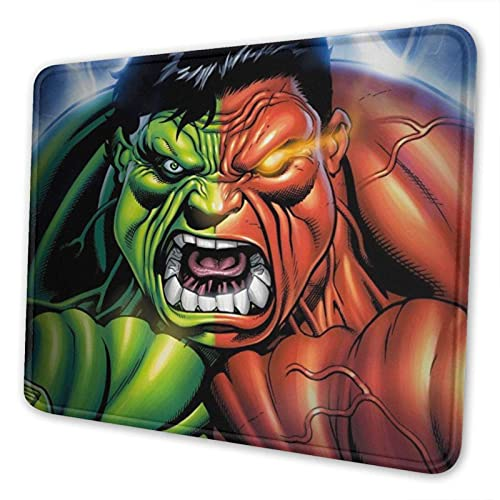 XCNGG Alfombrilla para ratón Hulk Mouse Pad Mat Gaming Unique Custom Mousepad, Computer Keyboard, Stitched Edges, Office Ideal for Desk Cover, Large Mouse Pats, Laptop and PC 7 x 8.6 in