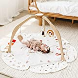 Baby Play Gym, Baby Play Mat Stage-Based Developmental Baby Gym and Playmats for Baby, Newborn, Infant Activity Gym with 3 Featured Toys, Pillow and Tummy Time Mat