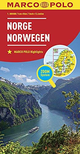 Marco Polo Noorwegen: Wegenkaart 1:800 000