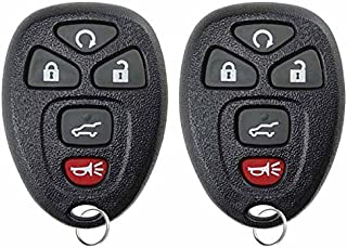 KeylessOption Keyless Entry Remote Control Car Key Fob Replacement 15913415 (Pack of 2)