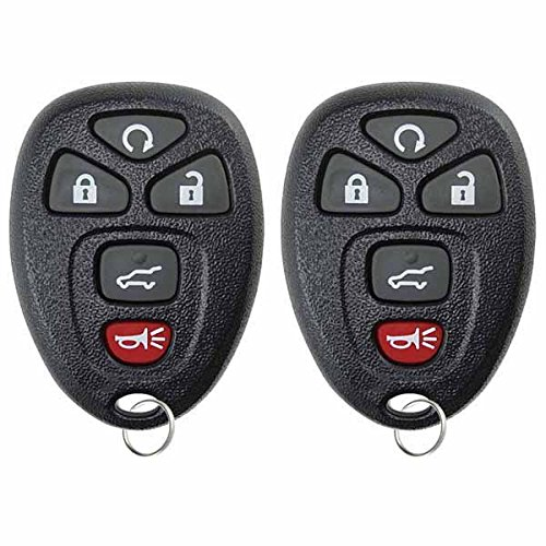 KeylessOption Keyless Entry Remote Control Car Key Fob Replacement for 15913415 (Pack of 2)