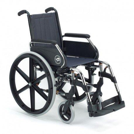 'Rollstuhl Breezy 250Breite 46cms NEUMATICAS 24Farbe Chrom