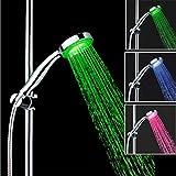 WFH Control Automático Del Sensor De Temperatura Cambio De Color Cambio Sensible 3 Colores Gradiente LED Luz Ducha De Mano Cabezal De Ducha