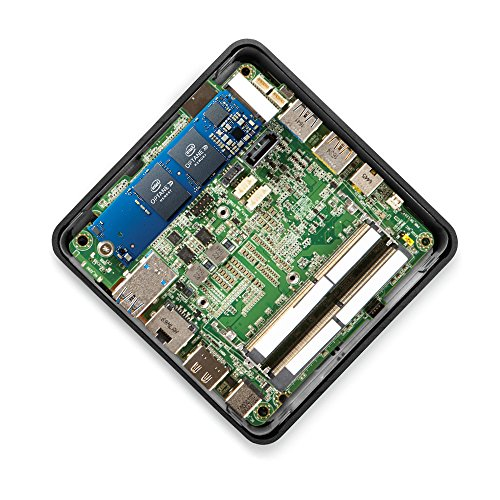 Intel BOXNUC7I5BNHX1 NUC BABY CANYON Desktop PC (Intel Core i5-7260U, Iris Plus Graphics 640, kein Betriebssystem) schwarz/grau