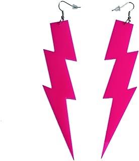 iLoveCos 80er Neon Party Kleid Zubehör Neon Ohrringe Party Kostüm 1980er Jahre Accessoires(se6)