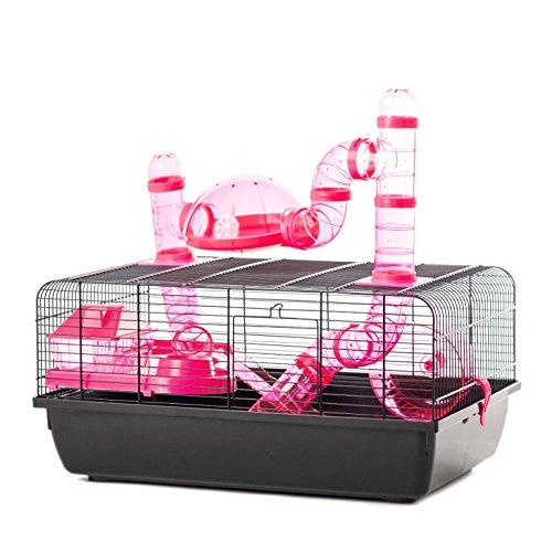 Little Friends Poco Amigos Landmark Animal Jaula con Accesorios, pequeño, 58x 38x 29cm, Color Rosa