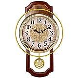 Nclon Europeo Reloj de Pared,Silencioso sin Ruidos Creativo Sala de Estar Dormitorio...