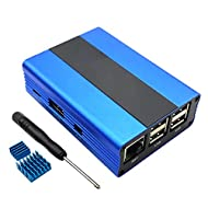 Eleduino Raspberry Pi 3, 2 and B+ Case Aluminum with Fan (Blue)