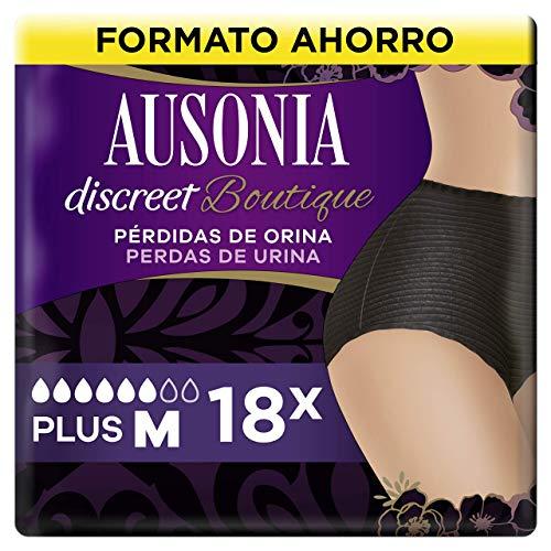 AUSONIA Discreet Boutique Braguitas para Pérdidas de Orina M Negras, Bloquean El Olor Y La Humedad Y Evitan Fugas 18
